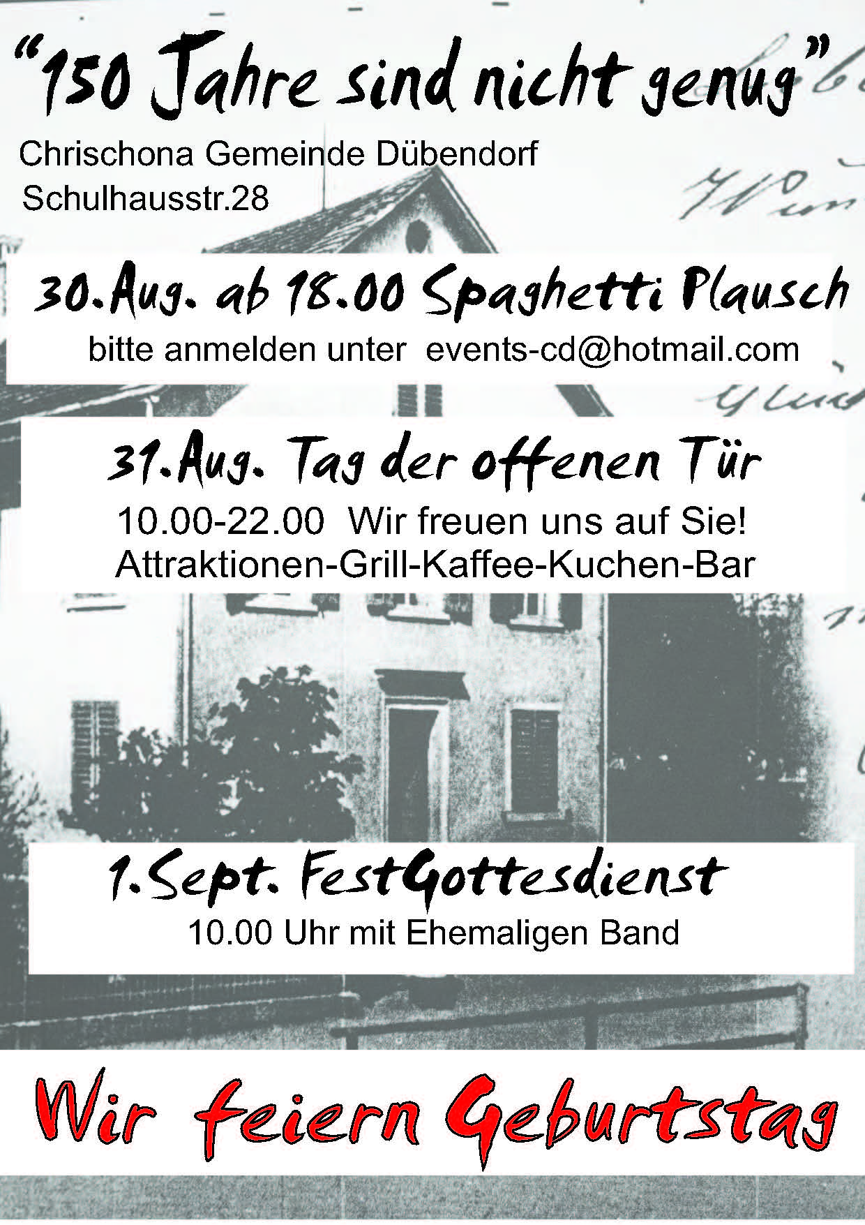 Jubiläums-Flyer